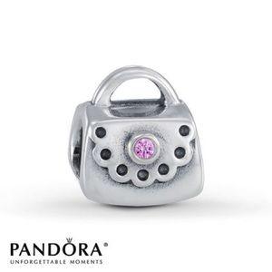 Pandora purse with pink cz